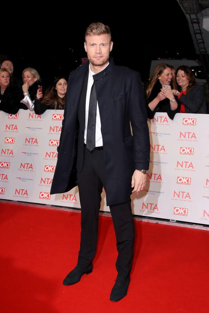 <p>Shunning the go-to tux, Freddie Flintoff donned a smart tie for the awards night. <em>[Photo: Getty]</em> </p>