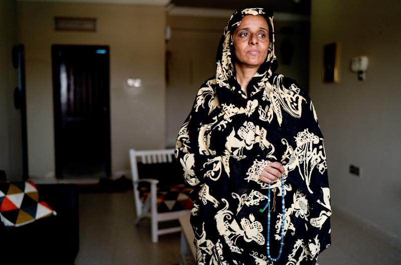 Manal Farah, 49, housewife, poses for a photograph in Khartoum, Sudan, June 28, 2019. (Photo: Umit Bektas/Reuters)