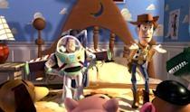 """<p>A Disney film so good it spawned three box-office-busting sequels. Of course, the original <em>Toy Story</em> movie—about a young boy's old favorite toy and new favorite toy becoming enemies, then friends—is the one to watch over and over again. (Okay, and maybe <em>Toy Stor</em>y <em>3</em>, too. That one gets me every time.)</p> <p><a href=""""https://www.amazon.com/Toy-Story-Tim-Allen/dp/B0094KTAEY"""" rel=""""nofollow noopener"""" target=""""_blank"""" data-ylk=""""slk:Available for rent on Amazon Prime Video"""" class=""""link rapid-noclick-resp""""><em>Available for rent on Amazon Prime Video</em></a></p>"""