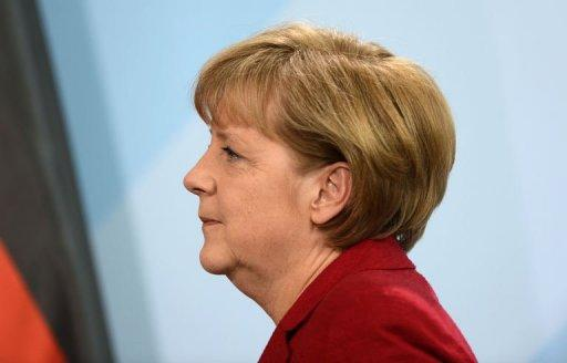 German Chancellor Angela Merkel is pictured May 16