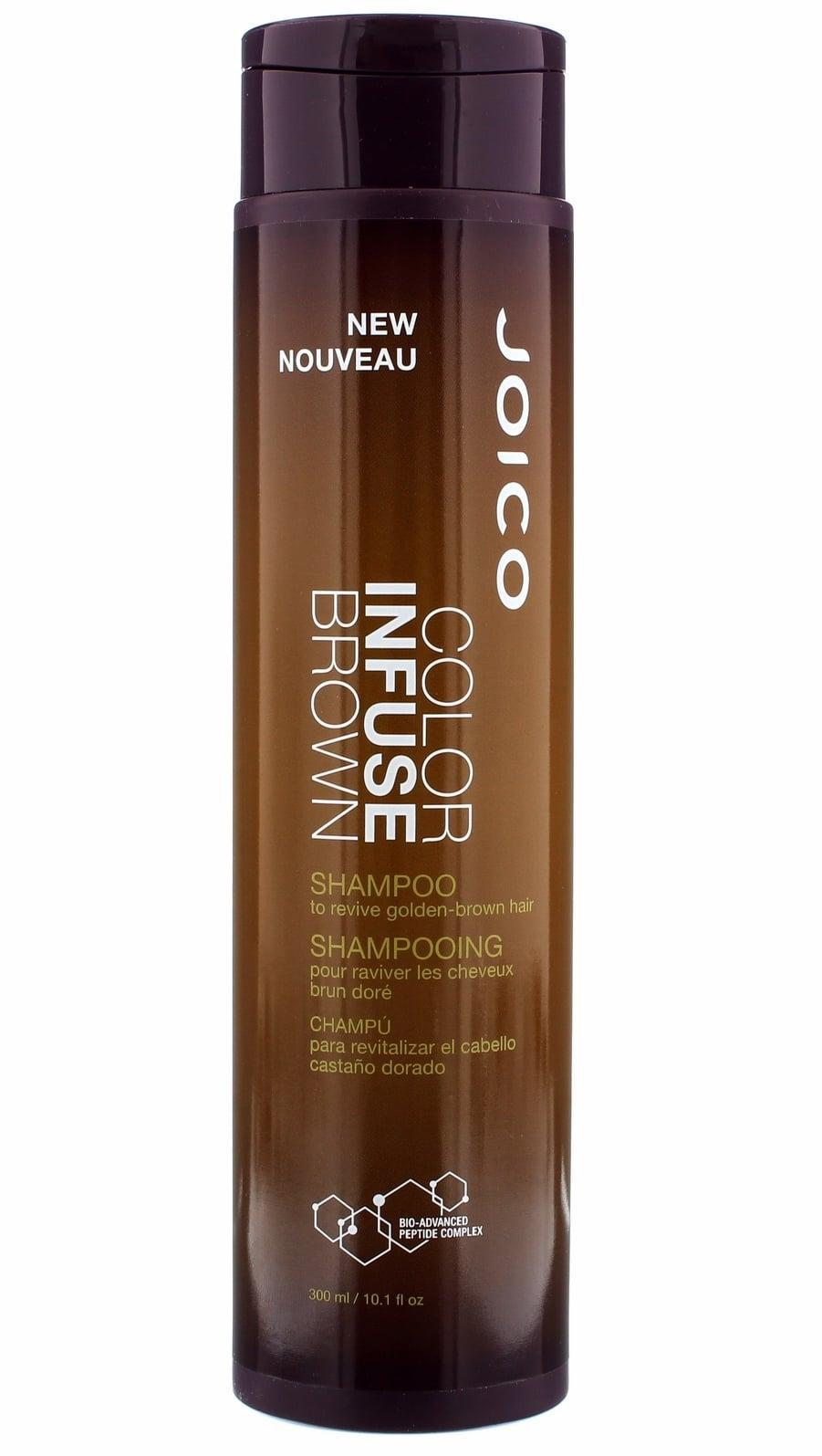 <p>If you're looking to take your hair color to the next level, this <span>Joico Color Infuse Brown Shampoo</span> ($21) will do the trick. It includes a subtle color tint that makes hair appear darker.</p>