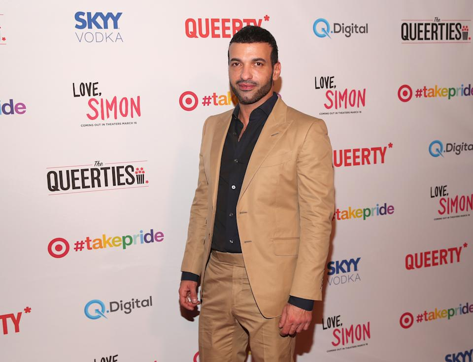 """LOS ANGELES, CA - FEBRUARY 27:  Haaz Sleiman attends the Queerty presents """"The Queerties"""" Award Reception on February 27, 2018 in Los Angeles, California.  (Photo by Christopher Polk/Getty Images for Queerty)"""