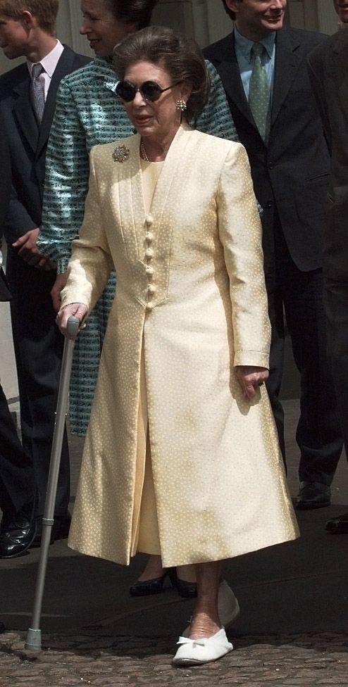 <p>Princess Margaret at St. James Palace to celebrate the Queen Mother's 99th birthday. </p>