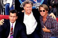 """<p>Art has imitated life multiple times for <em>The West Wing</em> alumnus, with two of his sons playing his kids on screen.</p> <p>Emilio played his father's son in <em>The War at Home</em> and <em>The Way,</em> while Charlie acted opposite his father in <em>Wall Street </em>and <em>Spin City, </em>according to <a href=""""https://www.imdb.com/name/nm0000389/bio"""" rel=""""nofollow noopener"""" target=""""_blank"""" data-ylk=""""slk:IMDb."""" class=""""link rapid-noclick-resp"""">IMDb.</a></p>"""