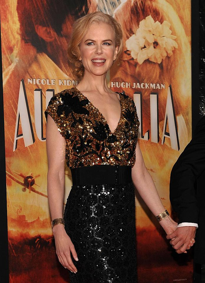 """<a href=""""http://movies.yahoo.com/movie/contributor/1800018939"""">Nicole Kidman</a> at the New York City premiere of <a href=""""http://movies.yahoo.com/movie/1809878217/info"""">Australia</a> - 11/24/2008"""
