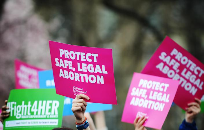 While Vermont considers protecting abortion via its state constitution, several other states are looking to ban it as early as six weeks. (Astrid Riecken via Getty Images)