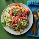 """<p>Packed with plenty of vegetables and tons of flavor, this chicken pasta bake is inspired by the ingredients in a caprese salad. <a href=""""https://www.eatingwell.com/recipe/281182/balsamic-chicken-pasta-bake-with-zucchini-noodles/"""" rel=""""nofollow noopener"""" target=""""_blank"""" data-ylk=""""slk:View Recipe"""" class=""""link rapid-noclick-resp"""">View Recipe</a></p>"""