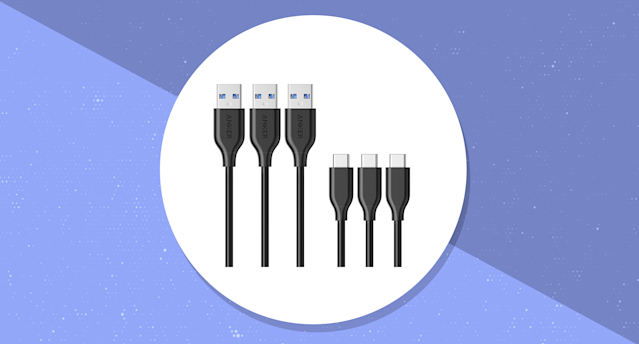 These cables are ideal for new Apple MacBook models. (Photo: Amazon/Yahoo Lifestyle)