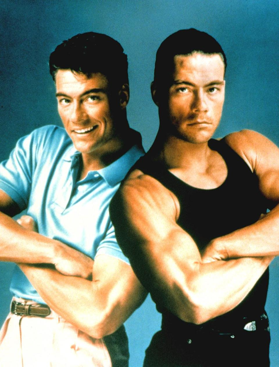 <p>Instead of twins separated at birth, Van Damme plays a set of identical siblings who part after the death of their parents in this 1991 action flick. They lead separate lives until reuniting to avenge the murder of their mother and father. <i>(Photo: Everett Collection)</i></p>