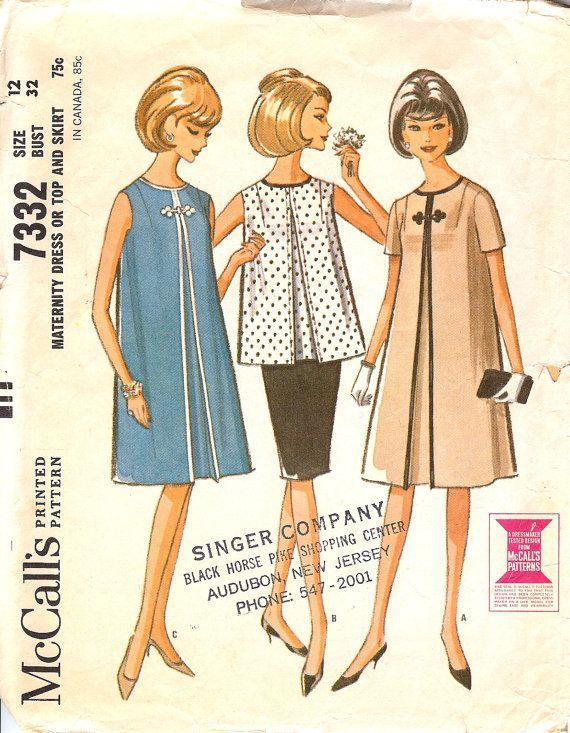 <p>In order to make room for an expectant mother's belly, some dresses featured inverted pleats.</p>