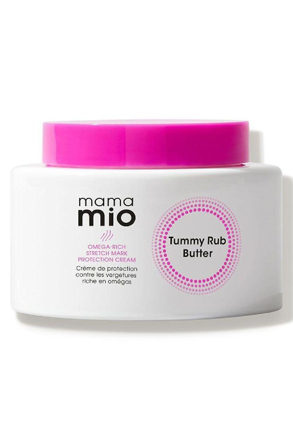 """<p><strong>Mama Mio</strong></p><p>amazon.com</p><p><strong>$34.00</strong></p><p><a href=""""https://www.amazon.com/Mama-Mio-Bergamot-mandarin-patchouli/dp/B088CGG51B/?tag=syn-yahoo-20&ascsubtag=%5Bartid%7C10049.g.23323942%5Bsrc%7Cyahoo-us"""" rel=""""nofollow noopener"""" target=""""_blank"""" data-ylk=""""slk:Shop Now"""" class=""""link rapid-noclick-resp"""">Shop Now</a></p><p>This stretch mark cream is specifically created for the belly area, but you can <strong>use it anywhere you might need to soothe itchiness from growing, stretching skin</strong>. This blend of oils (coconut, almond, olive, and sweet almond) with aloe vera, shea butter, vitamin E, and dimethicone will leave your stretchies feeling smooth, soft, and super-moisturized. Head's up: this one has a powerful scent to it, so if you're sensitive to smells and prefer <a href=""""https://www.cosmopolitan.com/style-beauty/beauty/a34024982/fragrance-free-skincare-routine-essay/"""" rel=""""nofollow noopener"""" target=""""_blank"""" data-ylk=""""slk:fragrance-free skincare products"""" class=""""link rapid-noclick-resp"""">fragrance-free skincare products</a>, try the version of <a href=""""https://go.redirectingat.com?id=74968X1596630&url=https%3A%2F%2Fwww.dermstore.com%2Fproduct_The%2BTummy%2BRub%2BButter%2B%2BFragrance%2BFree_75260.htm&sref=https%3A%2F%2Fwww.cosmopolitan.com%2Fstyle-beauty%2Fbeauty%2Fg23323942%2Fbest-stretch-mark-removal-cream%2F"""" rel=""""nofollow noopener"""" target=""""_blank"""" data-ylk=""""slk:this tummy butter without added fragrance"""" class=""""link rapid-noclick-resp"""">this tummy butter without added fragrance</a>.</p>"""