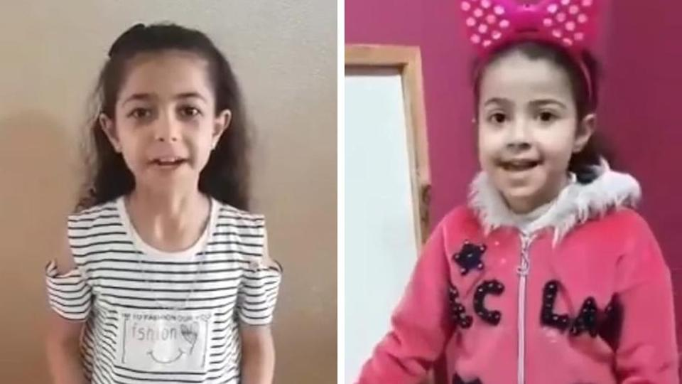 Nine-year-old Yara (left) and five-year-old Rula (right)