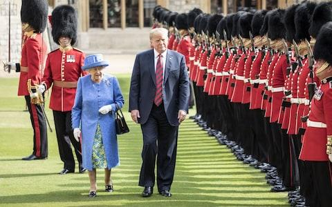 The Queen and Donald Trump at Windsor Castle this year