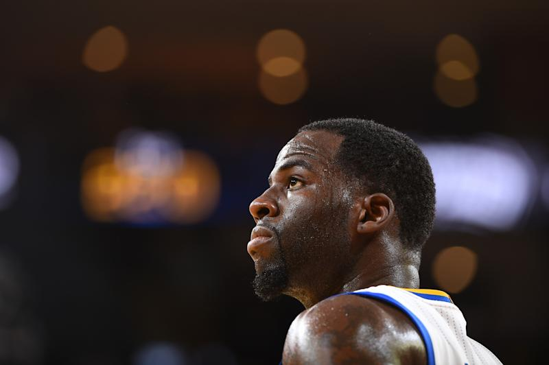 Draymond Green looks out into the great beyond. (Getty Images)