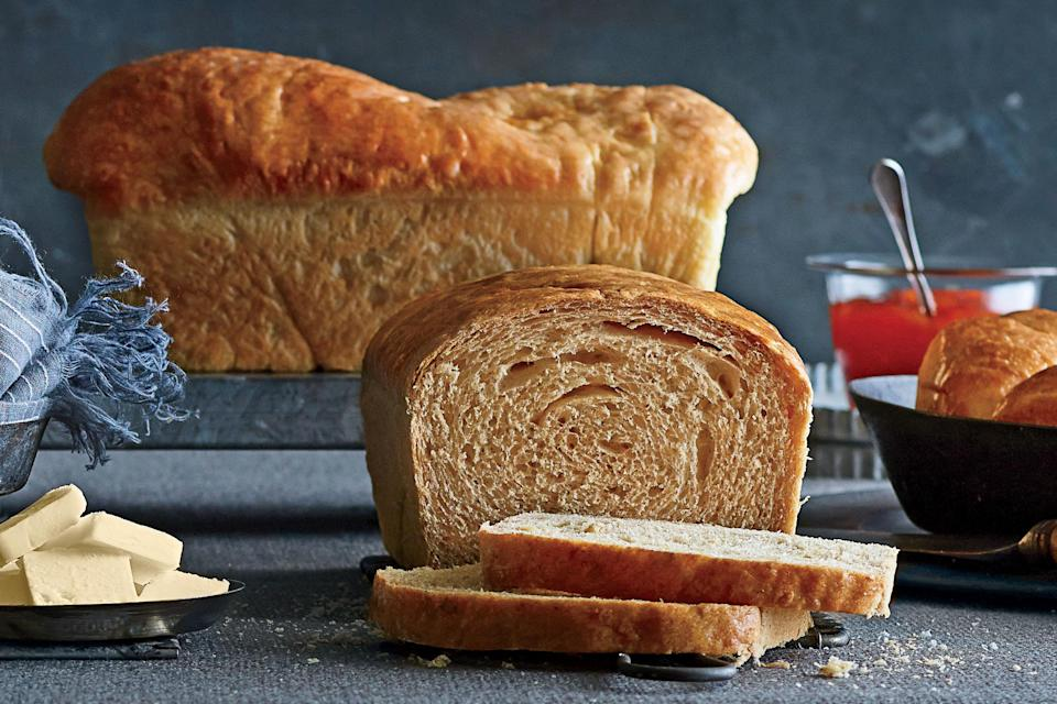 """<p><strong>Recipe:</strong> <a href=""""http://www.myrecipes.com/recipe/sorghum-oat-bread-50400000130700/"""" rel=""""nofollow noopener"""" target=""""_blank"""" data-ylk=""""slk:Sorghum-Oat Bread"""" class=""""link rapid-noclick-resp""""><strong>Sorghum-Oat Bread</strong></a></p> <p>Be sure the oat mixture has cooled before mixing with the yeast.</p>"""
