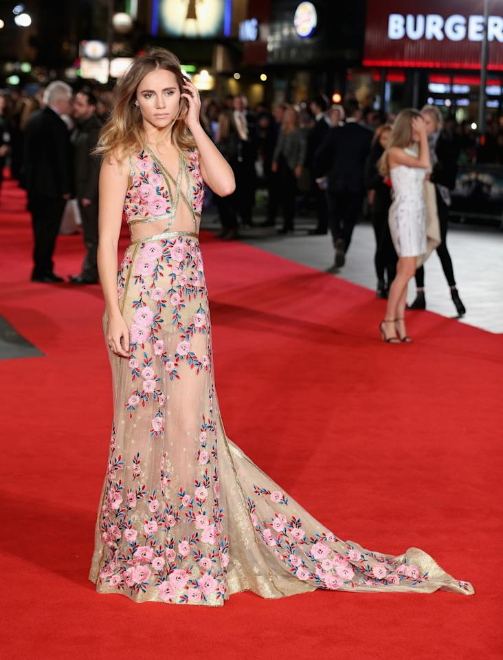"<p>The only downside to this totally stunning Reem Acra look that Suki Waterhouse wore to the European premiere of ""Pride and Prejudice and Zombies"" is that it wasn't reserved for the Oscars. <i>(Photo by Chris Jackson/Getty Images)</i></p>"