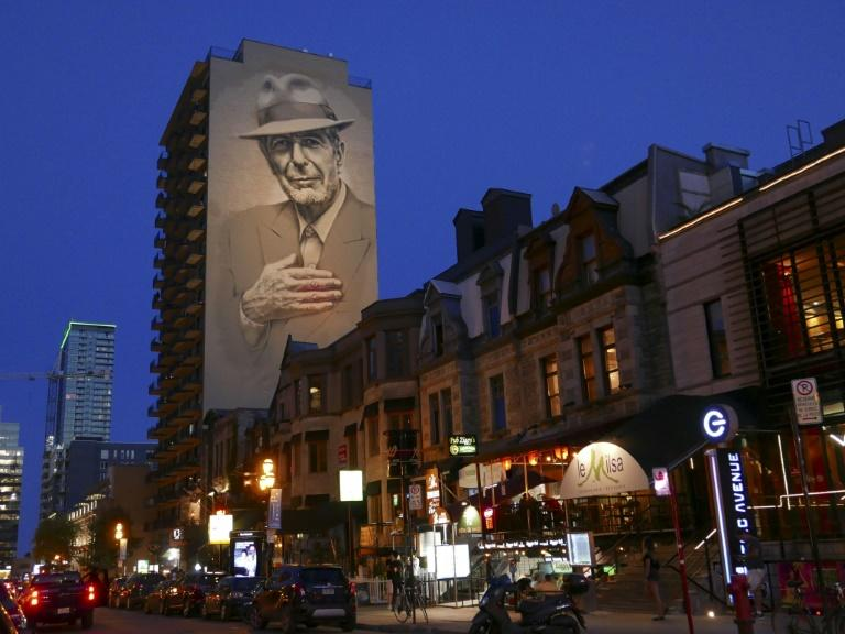 The Montreal mural of the late Canadian artist Leonard Cohen, whose posthumous album reflects on his past with poignant introspection