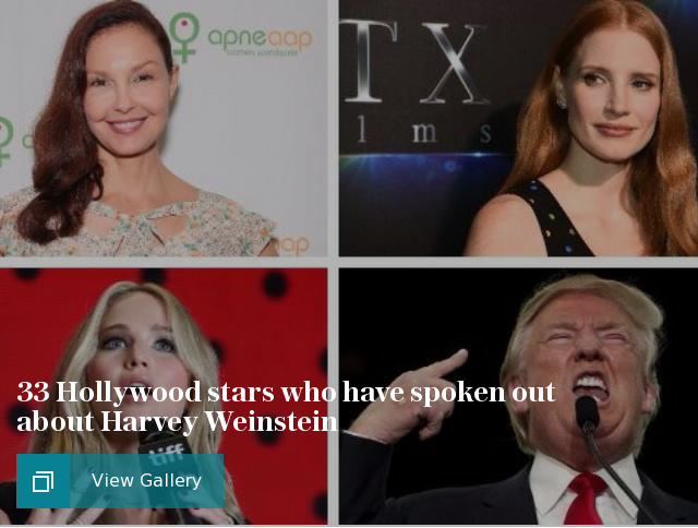 33 Hollywood stars who have spoken out about Harvey Weinstein
