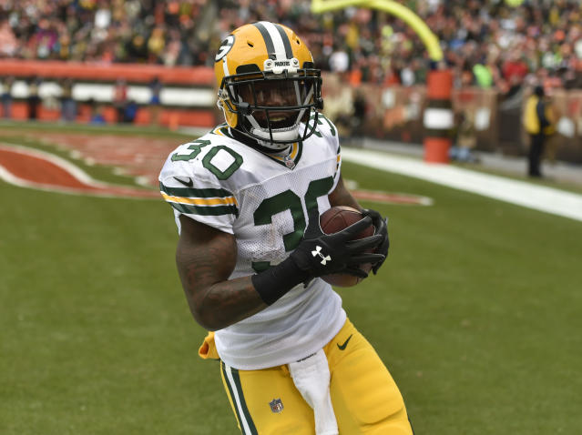 Jamaal Williams looks like the head of Green Bay's backfield committee. (AP Photo/David Richard)