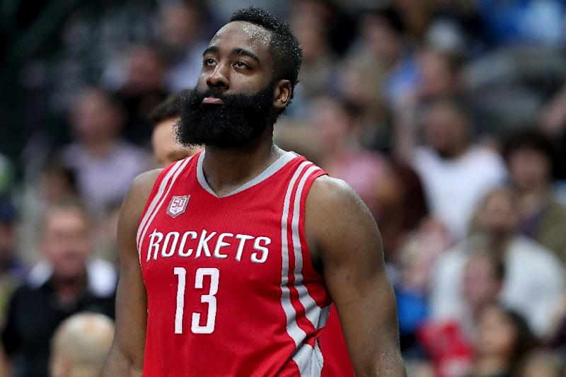 James Harden scored 25 points and passed off 12 assists to spark the Houston Rockets over visiting Orlando Magic 128-104, at Toyota Center in Houston, Texas, on February 7, 2017 (AFP Photo/TOM PENNINGTON)