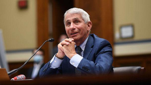 PHOTO: Dr. Anthony Fauci, director of the National Institute for Allergy and Infectious Diseases, testifies before a House Subcommittee on the Coronavirus crisis, July 31, 2020 in Washington, D.C. (Kevin Dietsch/Pool via Getty Images, FILE)