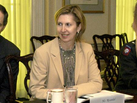FILE PHOTO: Deputy Assistant Secretary of Defense for Eurasian Policy, Mira Ricardel takes part in a meeting at the Pentagon in Washington, U.S., October 9, 2003 in this photo obtained November 13, 2018. Courtesy R.D. Ward/U.S. Department of Defense/Handout via REUTERS