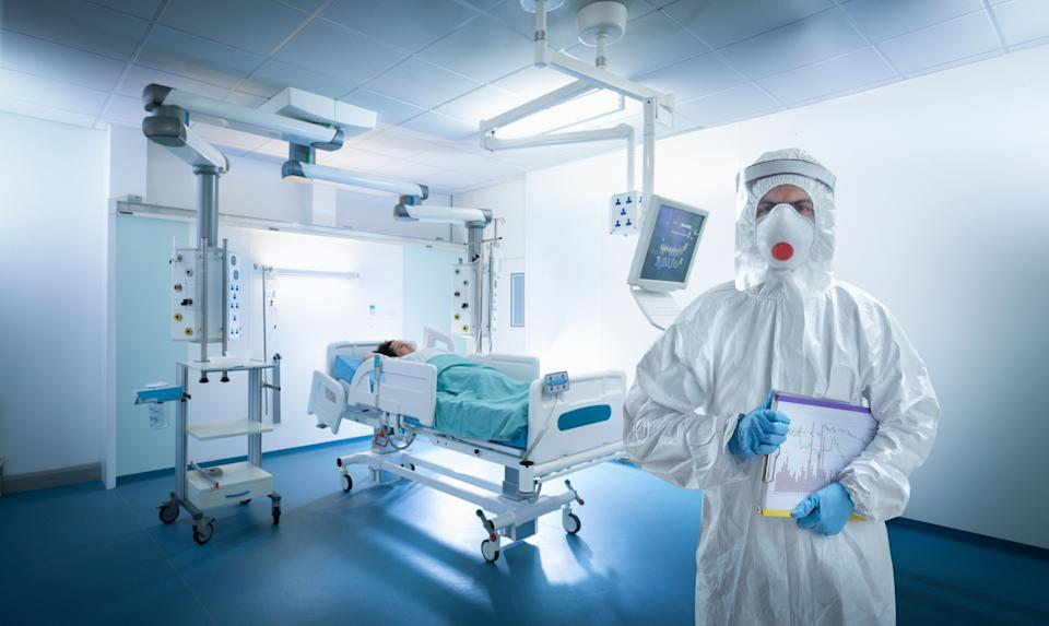 A nurse wears protective gear in an intensive care unit during the Covid-19 global pandemic<i></i> (Photo: Monty Rakusen via Getty Images)
