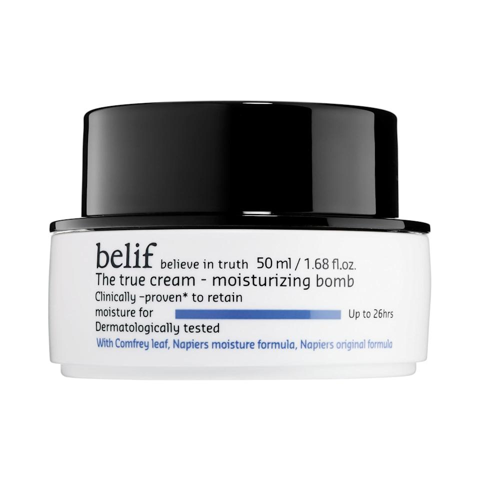 <p>You'll feel like you just drank a glass of water after you've applied <span>Belif The True Cream Moisturizing Bomb</span> ($38).</p>