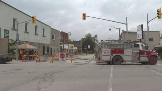 The public has been told to avoid the area of Wheatley where the gas leak has occurred.  (Jacob Barker/CBC - image credit)