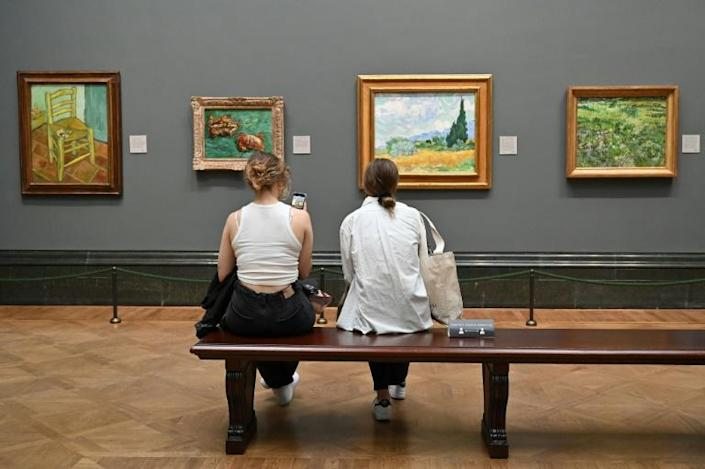 The National Gallery in London was among the museums that reopened on Monday