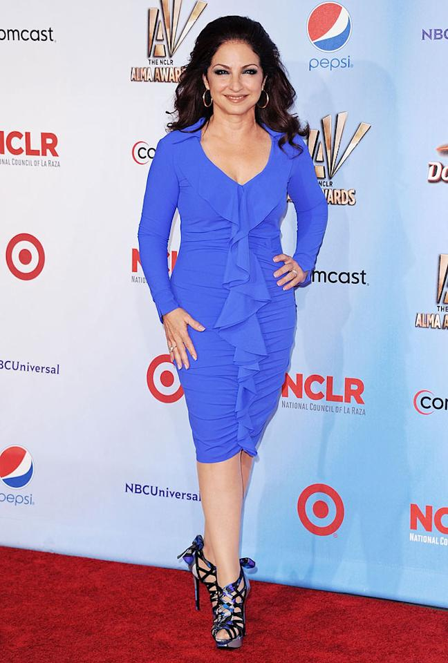 "Singer Gloria Estefan -- who still looks lovely at 54 -- was also one of the night's performers. Can you believe it's been more than 25 years since she and the Miami Sound Machine came out with their hit single ""Conga""? Jon Kopaloff/<a href=""http://www.filmmagic.com/"" target=""new"">FilmMagic.com</a> - September 10, 2011"