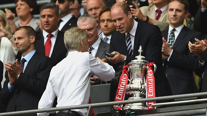 Prince William Arsene Wenger FA Cup final 2017