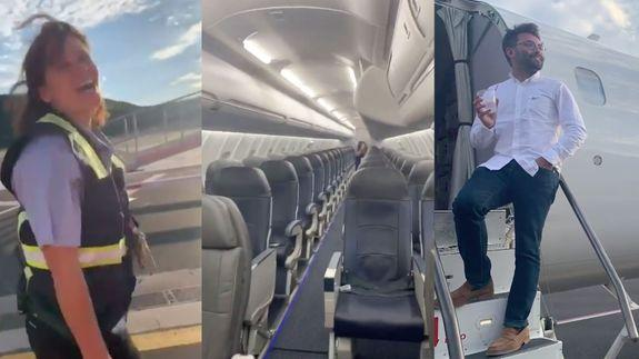 USA passenger gets flight all to himself