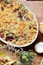 "<p>This gratin is inspired by spinach dip. You can substitute collard, turnip, or mustard greens for the kale, but be sure to remove tough thick stems.</p><p><strong><a href=""https://www.countryliving.com/food-drinks/recipes/a5898/baked-kale-gratin-recipe-clx1114/"" rel=""nofollow noopener"" target=""_blank"" data-ylk=""slk:Get the recipe"" class=""link rapid-noclick-resp"">Get the recipe</a>.</strong></p>"