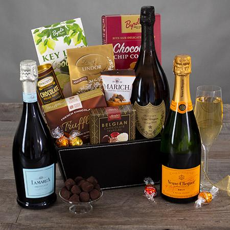 Gourmet Gift Baskets Champagne and Truffles Gift Basket