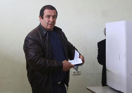 Businessman and opposition leader Tsarukyan votes during a parliamentary election at a poling station in Yerevan