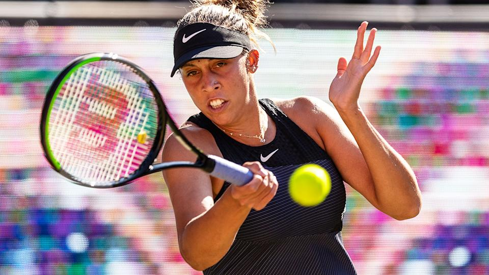 Madison Keys, pictured here in action against Aryna Sabalenka in Berlin.