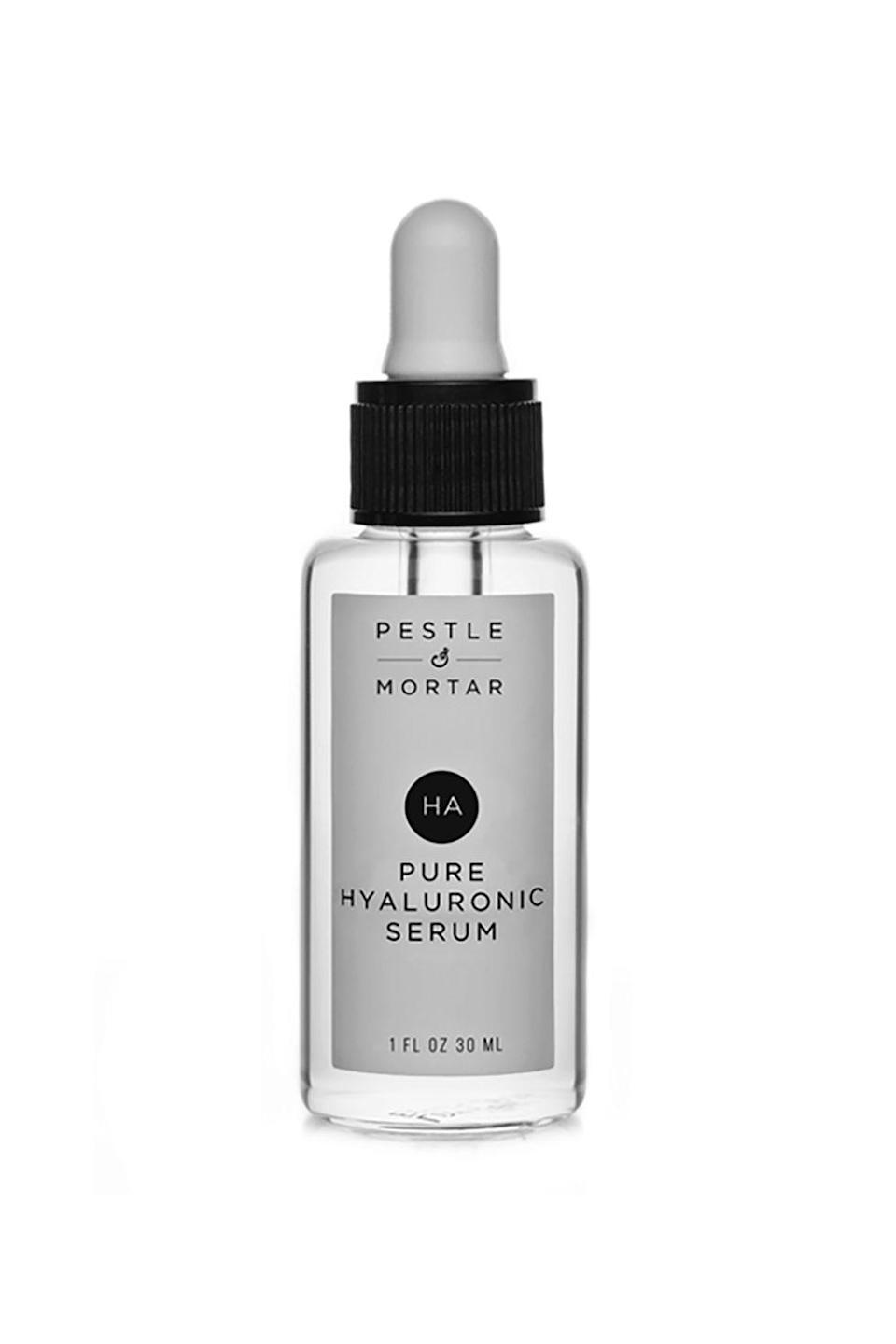 "<p>Just think about it: What *would* happen if you put a bunch of the top moisturizing ingredients out there on your face? Miracles, that's what. </p><p>$69, <a href=""http://www.pestleandmortar.com/us/product/hyaluronic-acid-serum/"" rel=""nofollow noopener"" target=""_blank"" data-ylk=""slk:pestleandmortar.com"" class=""link rapid-noclick-resp"">pestleandmortar.com</a>.</p>"