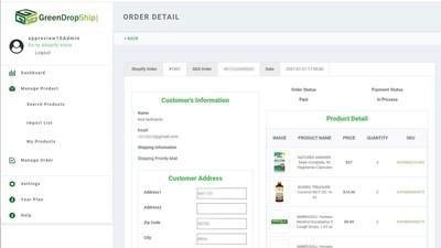 The GreenDropShip app enables merchants to sell products online and get their orders fulfilled automatically.