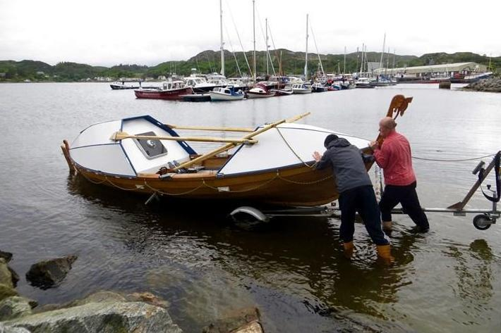 He took three years to build his wooden boat, named Sleipnir (Duncan Hutchinson / JustGiving)