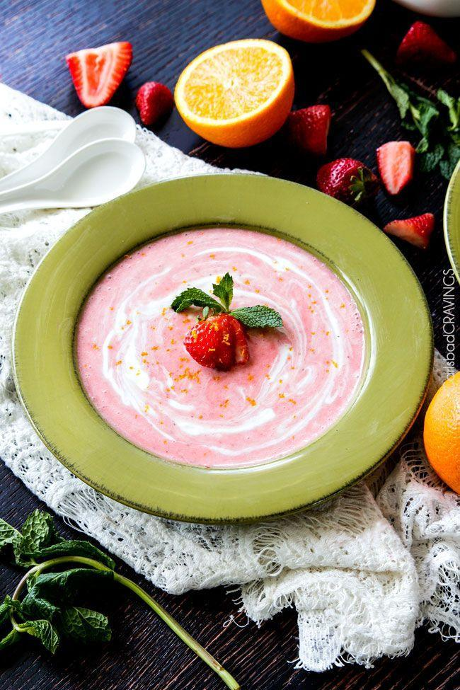 """<p>Berry season is here, and this soup is the perfect way to celebrate the seasonal fruit.</p><p><strong>Get the recipe at <a href=""""http://www.carlsbadcravings.com/5-minute-blender-chilled-strawberry-coconut-soup-recipe/"""" rel=""""nofollow noopener"""" target=""""_blank"""" data-ylk=""""slk:Carlsbad Cravings"""" class=""""link rapid-noclick-resp"""">Carlsbad Cravings</a>.</strong></p>"""