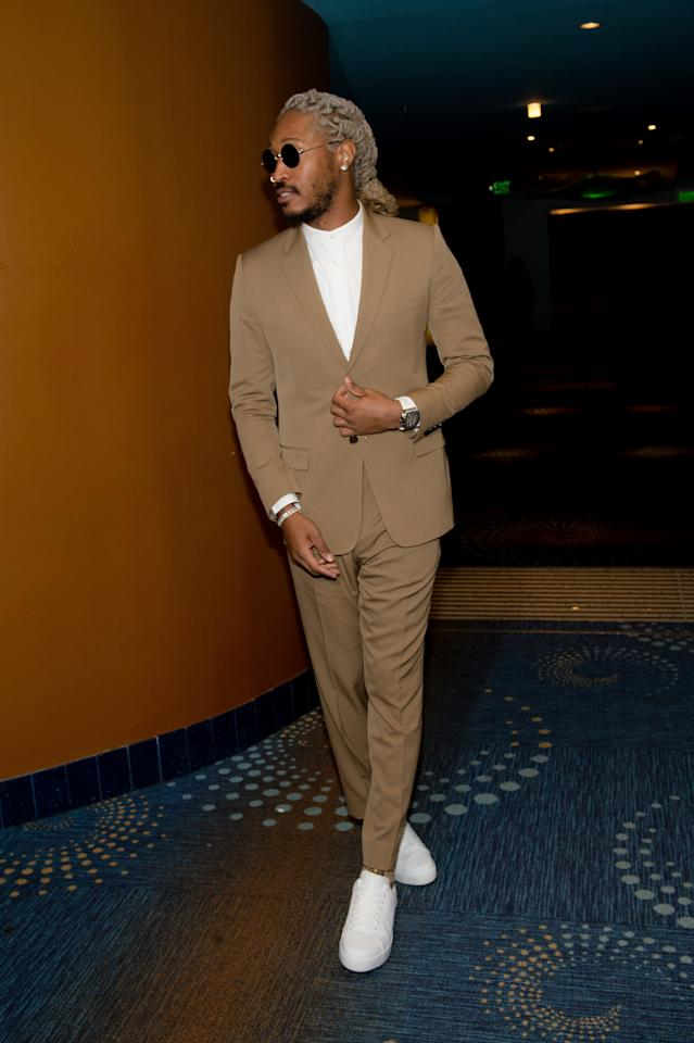 <p>WHERE: The Golden Wishes Gala in Atland</p> <p>WHEN: November 16, 2019</p> <p>WHY: You don't usually see Future in a suit—which makes it even cooler when you do.</p>
