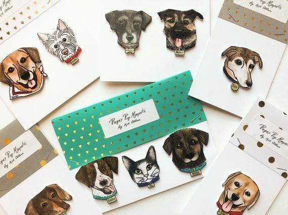 """If you're short on time, we recommend choosing&nbsp;<strong><a href=""""https://fave.co/2uN5MxV"""" target=""""_blank"""" rel=""""noopener noreferrer"""">one of the pre-illustrated pet shapes designed by Etsy designer KitAtlas</a></strong>. Once you purchase, send the designer an image of the pet and any specific details, and you'll have a one-of-a-kind custom magnet of your guy's best friend. Just be sure you order ahead with enough time for shipping.&nbsp;<strong><a href=""""https://fave.co/2uN5MxV"""" target=""""_blank"""" rel=""""noopener noreferrer"""">Learn more here</a></strong>."""