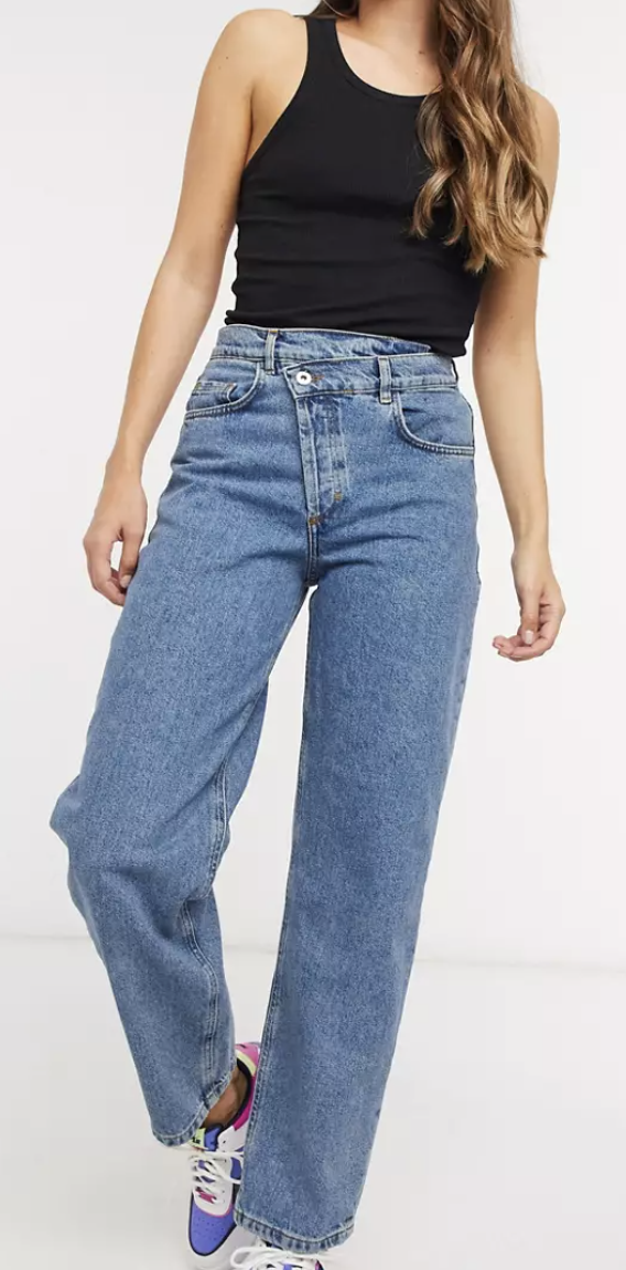 """<p><strong>Collusion</strong></p><p>us.asos.com</p><p><strong>$40.00</strong></p><p><a href=""""https://go.redirectingat.com?id=74968X1596630&url=https%3A%2F%2Fwww.asos.com%2Fus%2Fcollusion%2Fcollusion-x014-90s-baggy-dad-jeans-with-stepped-waistband-in-vintage-wash-blue%2Fprd%2F21148193&sref=https%3A%2F%2Fwww.womenshealthmag.com%2Flife%2Fg37080961%2Fbest-boyfriend-jeans%2F"""" rel=""""nofollow noopener"""" target=""""_blank"""" data-ylk=""""slk:Shop Now"""" class=""""link rapid-noclick-resp"""">Shop Now</a></p><p>Ok so <em>technically</em> these are called dad jeans, but it's the same relaxed vibe you get from any boyfriend/girlfriend jean. You've seen these crisscross waistband jeans everywhere, and I'm here to tell you that the trend is absolutely here to say. </p><p>And if you're still a bit hesitant, these are only $40, so it's worth a shot to try them out, just to say you did—trust me, you'll fall in love with them just as much as you did with your dad sneakers.</p>"""