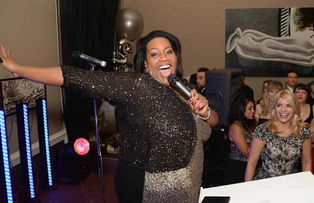 Alison Hammond on the This Morning 25th Anniversary in 2013 in London, England. (Dave J Hogan/Getty Images)
