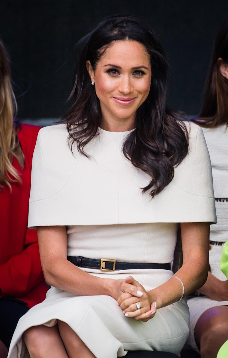 Meghan Markle at the opening of the Mersey Gateway Bridge