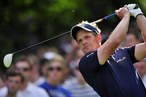 Luke Donald at the PGA Championship at Wentworth Golf Club in England on May 27. Donald is due to tee off at the US PGA Tour's Memorial this week