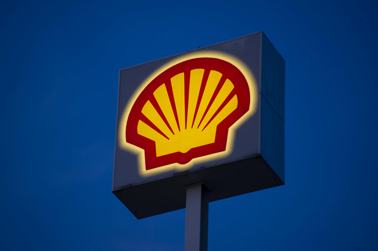 British-Dutch oil and gas company Royal Dutch Shell PLC sign , commonly known as Shell is seen on September 14, 2020 in Warsaw, Poland. (Photo by Aleksander Kalka/NurPhoto via Getty Images)