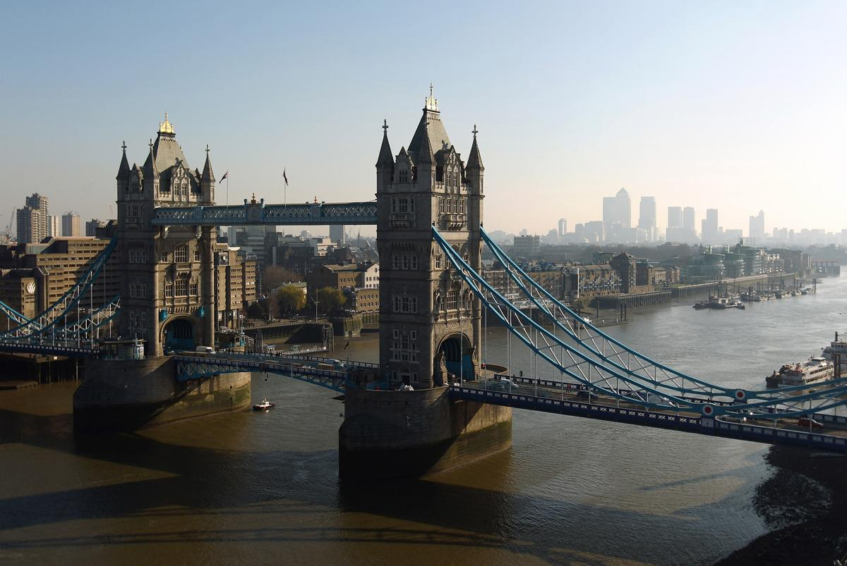 <p>How can you not kick-start this list with a top London entry? Situated on the Thames in the heart of the city, Tower bridge is iconic and its Victorian history is legendary. </p><p>Gaze at the nearby Tower of London as well as more modern landmarks such as The Gherkin and The Shard or visit after dark for spectacular views of a glittering city skyline.</p><p><br /></p>