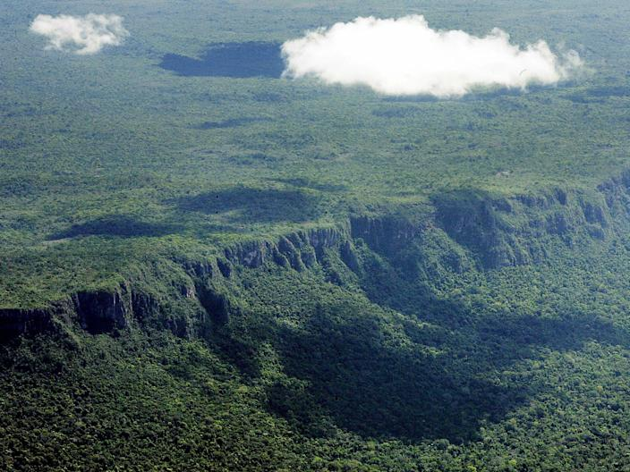 amazon rainforest before fires deforestation
